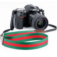 Universal DSLR SLR Camera Shoulder Strap Neck Strap Belt Hand Grip Green + Red