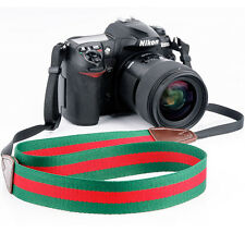 Universal DSLR SLR Camera Shoulder Strap Neck Strap Belt Hand Grip Green + Red