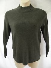 LAUREN RALPH LAUREN Womens 1X 16W 18W Gray Cotton Mock Turtleneck Sweater