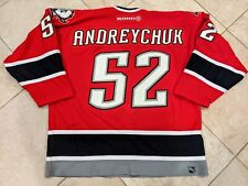AMAZING DAVE ANDREYCHUK GAME USED WORN BUFFALO SABRES RED ALTERNATE JERSEY HOF!