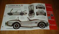 ★★1985 SHELBY AC COBRA MK IV SPEC SHEET BROCHURE POSTER PRINT PHOTO 85 86 87 ★★