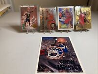 Chris Webber Lot Of 4 Sports Cards And 1 Rare Costacos Postcard ...includes 1 RC