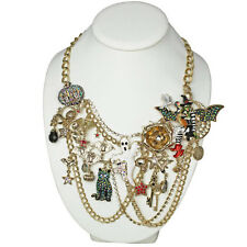 NEW KIRKS FOLLY WITCHCRAFT FAIRY HALLOWEEN PARTY NECKLACE ~~RARE~~GOLDTONE