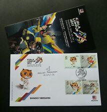 Malaysia 29th SEA Games 9th Para Asean 2017 Sport Tiger Kites (FDC) *signed