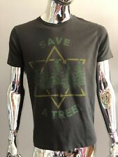 Junk Food Save A Tree Star of David BLACK COLOR T-SHIRT Size S