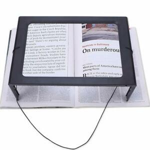 Large Magnifying Glass Hands Free With LED Light Magnifier Giant Reading sewing