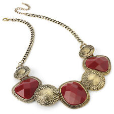 Antique Inspired Gold & Red Bead Necklace Special Offer