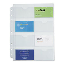 Day-Timer Business Card Holders for Looseleaf Planners 8 1/2 x 11 5/Pack 87325