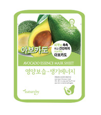 Natureby Avocado Moist & Health Skin Essence Mask Sheet 1pcs K-Beauty K-Cosmetic