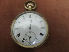 Antique Ingersoll Trenton Watch Co, Gold Plated Pocket Watch, Running Well, 1920