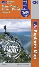 Beinn Dearg and Loch Fannich - OS Explorer ACTIVE Map 436 (NEW 2007 folded sheet