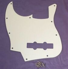 LEFT HANDED SCRATCHPLATE FOR FENDER JAZZ BASS / WHITE 3 PLY