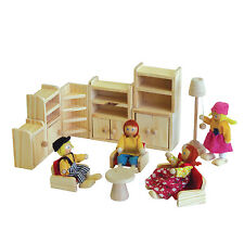 Dolls Lounge room -furniture, wood, miniatures - Timbertop