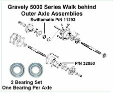 2 New - Gravely 5000 Walk Behind Series Tractor Outer Axle Bearings 32050/11293