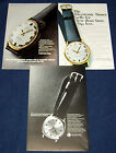 Lot of 3 Ads ~TIMEX Electric Electronic Watches ~ 1966 & 1969 ~ Model 99041 + photo