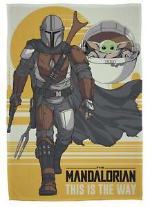 Star Wars Mandalorian Mando Fleece Blanket Bed Throw Matches Bedding Baby Yoda