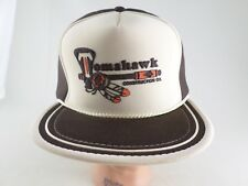 VTG Foam Trucker Hat Tomahawk Construction Snapback Cap w/ Rope Brown