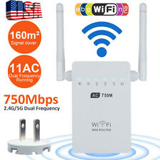 750Mbps Wireless Repeater Dual Band 2.4/5GHz WiFi Router Range Extender 802.11AC