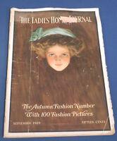 Vtg Antique September 1909 Ladies' Home Journal Magazine Harrison Fisher Cover