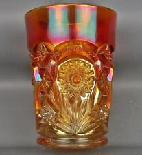 Imperial Carnival Glass -  FASHION Antique Dark Marigold Tumbler 3509-3606