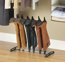 Free Standing Shoe Racks Boot Organizer Storage Leather Care Shaper Black Silver
