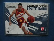 2009-10 Panini Rookies & Stars Moments in Time Spud Webb Hawks card#10 NBA $1S&H