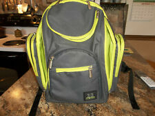 Bb Gear - 8 Pocket Diaper Backpack - Black/Green - Baby Toddler Gear-Diaper Bag