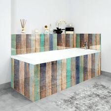 Bath Panels Printed on Acrylic - Multi Coloured Wash Wood