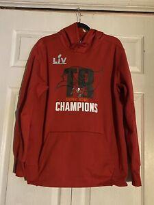 Tampa Bay Buccaneers Nike performance Superbowl LIV Hoodie Mens Size: L *NWOT*