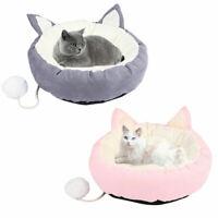 Pet Cat Dog Nest Bed Puppy Soft Warm Cave House Winter Sleeping Bag Mat Pad
