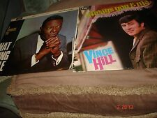 2 LP'S  A TRIBUTE TO  NAT KING COLE    AND    VINCE HILL ALWAYS YOU AND ME