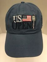 2003 US Open Golf Olympia Fields Hat Blue American Flag Strap Back Men's OSFA