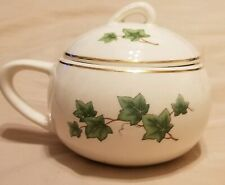 """Paden City Pottery Ivy Sugar Bowl with Lid Gold Trim Unused """" RARE """""""
