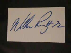 WILLIAM THE REFRIGERATOR PERRY CHICAGO BEARS SIGNED AUTOGRAPHED INDEX CARD 3X5
