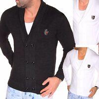 JEEL Herren Pullover Jacke Übergangsjacke Cardigan Strickjacke Langarm-Shirt NEU