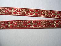 Borte  Gold Rot Kreuze Mittelalter BO-J1-1035