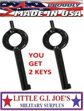Handcuff Key Peerless Strd Handcuff Key Mfg By ZAK Military NSN:8465-00-656-0884