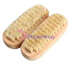 2PCS Wooden Double Sided Manicure Finger Nail Pedicure Cleaning Wash Brush  Y#BU