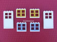 New Lego City Friends Belville Town House 2 Doors and 4 Windows Parts + Pieces