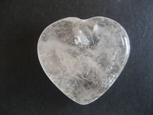 Natural Clear Quartz Love Heart Valentine