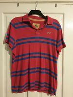 Mens Retro Vintage Hollister Polo Shirt