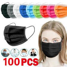 10/50/100 Stk Schutzmaske Medizinische Mundschutz Einweg Maske 3lagig Atemschutz