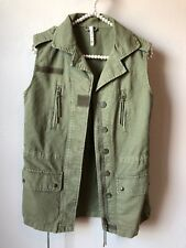 618f072e24fb6 Willow And Clay Womens Size XS Milatary Vest Pockets Cargo Green Zipper  *read*