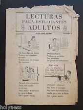 VINTAGE MAGAZINE LOT / LECTURAS PARA ADULTOS / INSTRUCCION PUBLICA / PUERTO RICO