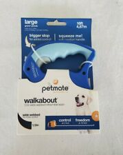 "Petmate Walkabout Retractable Leash Large Blue 16ft Trigger Stop 1/2"" Wide"