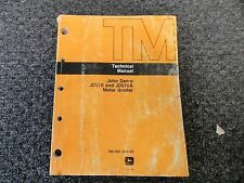 John Deere 570 570A Motor Grader Technical Shop Service Repair Manual Tm1001
