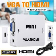 VGA To HDMI Converter VGA2HDMI USB+Audio Video Cable Adapter US