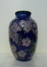 ANTIQUE LIMOGES CAMILLE THARAUD PORCELAIN VASE VIOLETS GILDED ART DECO
