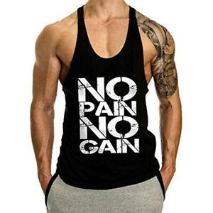 men cotton Fitness shirt Bodybuilding workout gym vest sleeveless shirt tank top