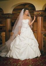 2Be NWT Bridal Wedding Gown Ivory Strapless Corset 14 Dress Sleeveless Crystal
